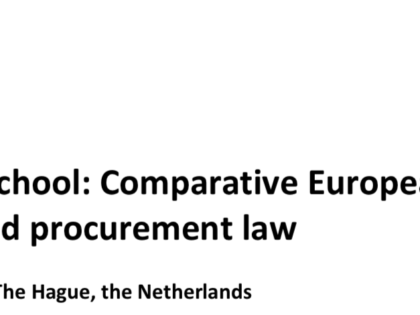 The First European Construction Law Summer School